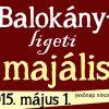 Balokány-ligeti majális pénteken!