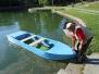 A csónakok vízre bocsátása